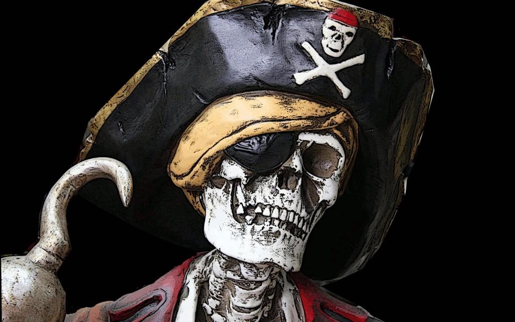 Papel de parede Esqueleto de Pirata para download gratuito. Use no computador pc, mac, macbook, celular, smartphone, iPhone, onde quiser!