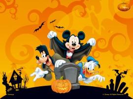 Papel de parede Mickey e Seus Amigos no Halloween