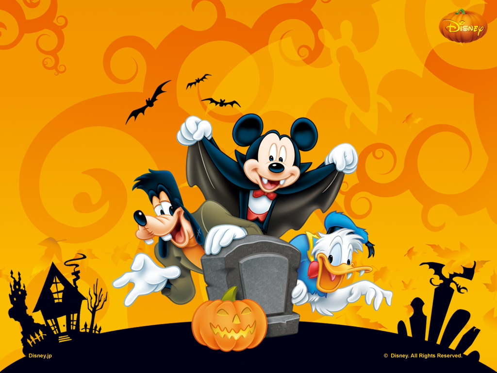 Papel de parede Mickey e Seus Amigos no Halloween para download gratuito. Use no computador pc, mac, macbook, celular, smartphone, iPhone, onde quiser!