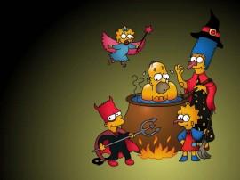 Papel de parede Simpsons no Halloween