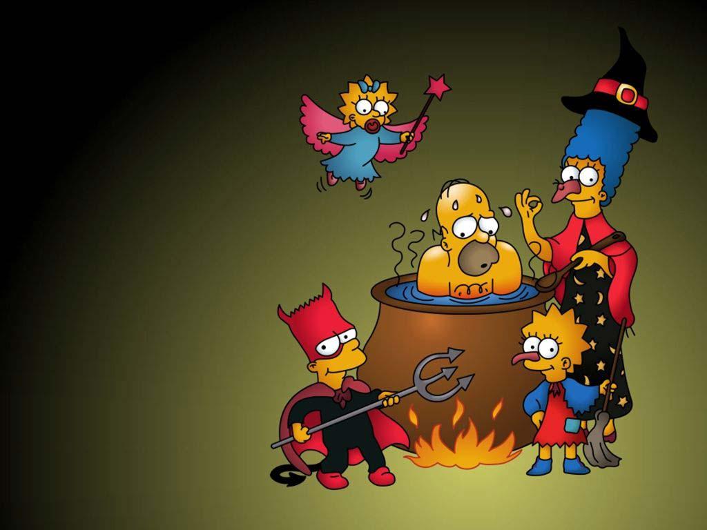 Papel de parede Simpsons no Halloween para download gratuito. Use no computador pc, mac, macbook, celular, smartphone, iPhone, onde quiser!