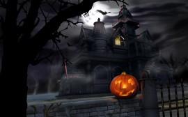 Papel de parede Casa Assustadora de Halloween