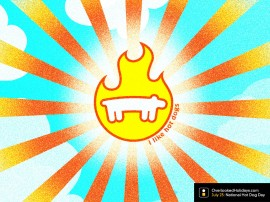Papel de parede Cachorro Quente – Fogo