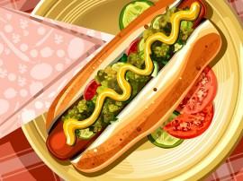 Papel de parede Cachorro Quente – Delicioso