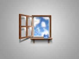 Papel de parede Janela – Para o Céu