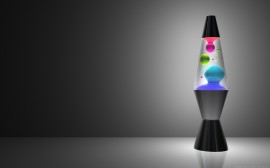 Papel de parede Lâmpada de Gel Colorido