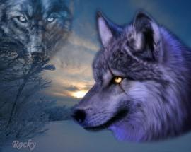 Papel de parede Desenho de Lobos