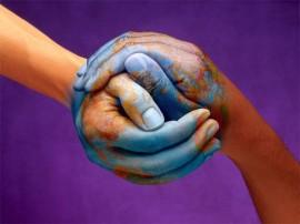 Papel de parede Mão que Formam o Mundo