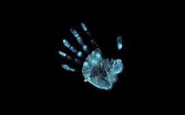Papel de parede Impressão de Mão com um Dedo a Mais