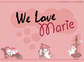 Papel de parede Nós amamos a Marie