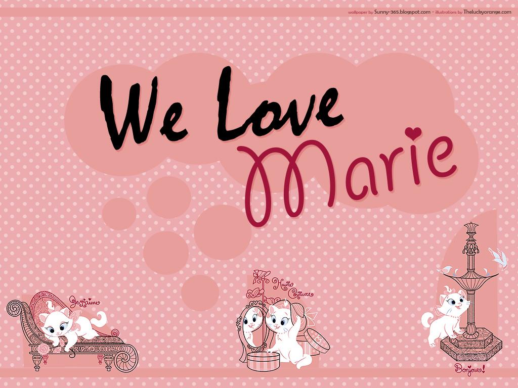 Papel de parede Nós amamos a Marie para download gratuito. Use no computador pc, mac, macbook, celular, smartphone, iPhone, onde quiser!