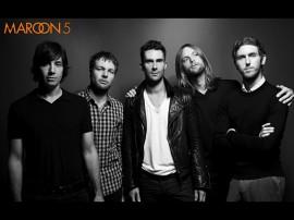 Papel de parede Maroon 5: Preto e Branco