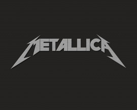 Papel de parede Metallica Logo Simples