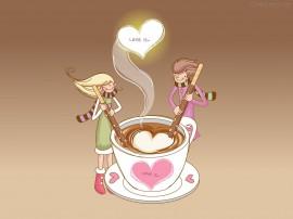 Papel de parede Namorados – Café Apaixonado