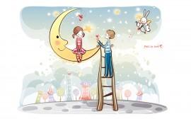 Papel de parede Namorados – Na Lua