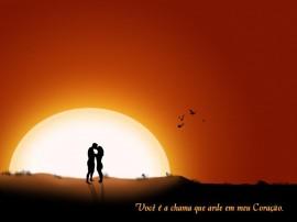 Papel de parede Namorados – Por-do-sol