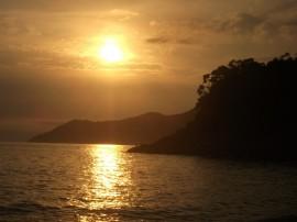 Papel de parede Pôr-do-sol na Praia: Morro