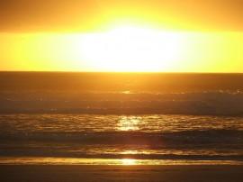 Papel de parede Pôr-do-sol na Praia: Belo Mar