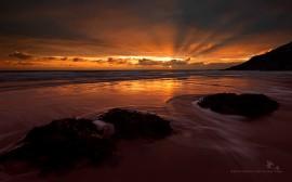 Papel de parede Pôr-do-sol na Praia: Paisagem
