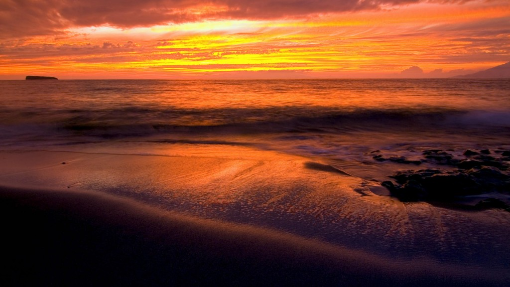 Papel de parede Pôr-do-sol na Praia: Laranja para download gratuito. Use no computador pc, mac, macbook, celular, smartphone, iPhone, onde quiser!