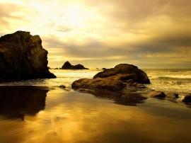 Papel de parede Pôr-do-sol na Praia: Espelho D´água