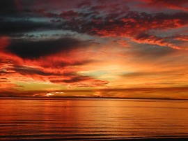 Papel de parede Pôr-do-sol na Praia: Nuvens