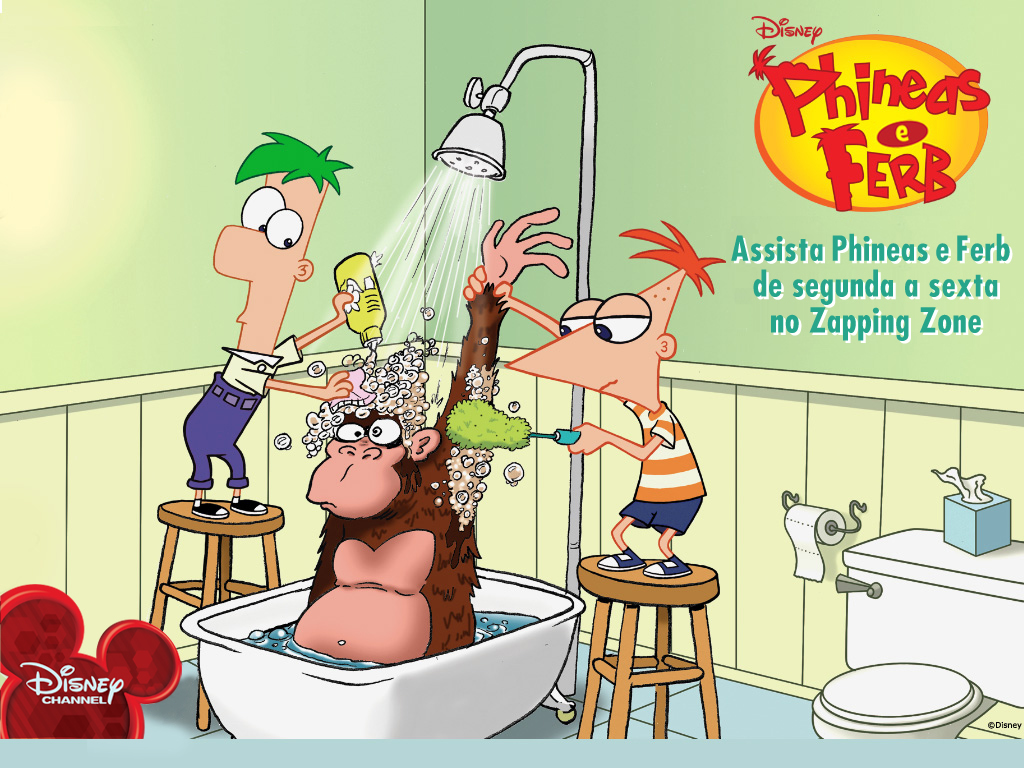 Papel de parede Phineas e Ferb – Macaco para download gratuito. Use no computador pc, mac, macbook, celular, smartphone, iPhone, onde quiser!
