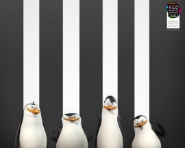 Papel de parede Pinguins de Madagascar – Desenho