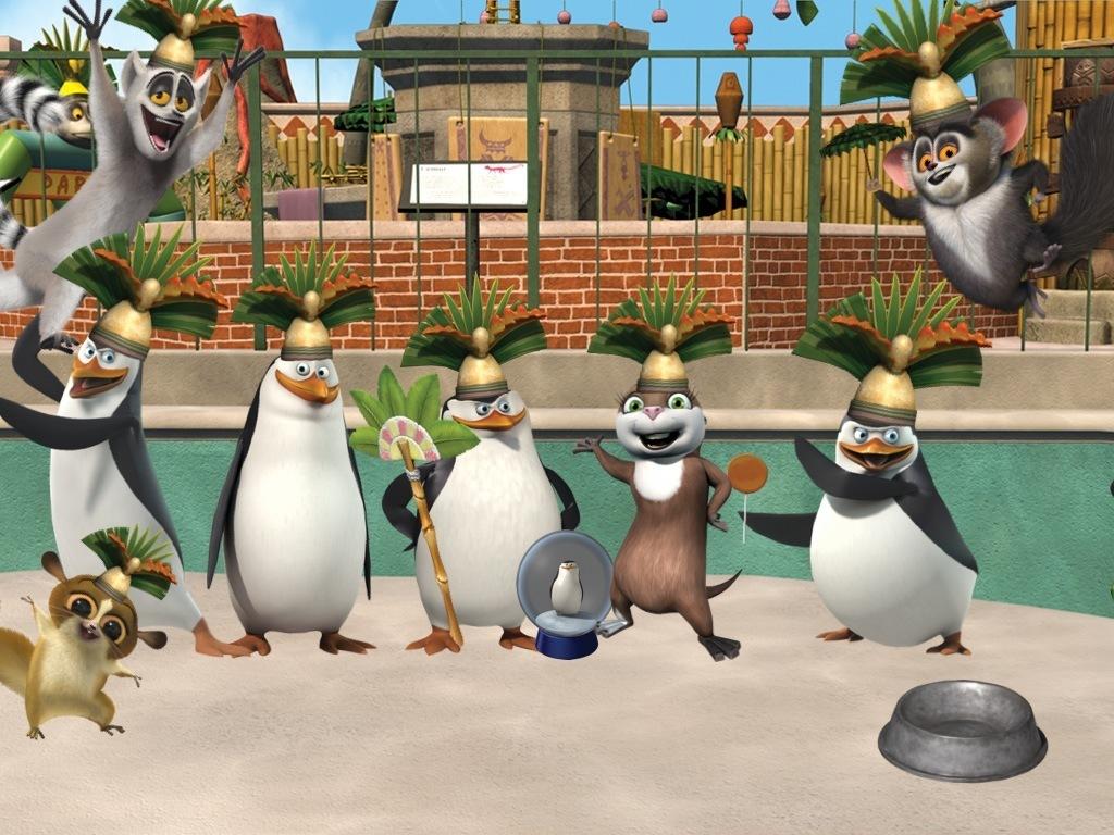 Papel de parede Pinguins de Madagascar – Dança para download gratuito. Use no computador pc, mac, macbook, celular, smartphone, iPhone, onde quiser!