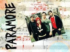 Papel de parede Paramore: Partitura