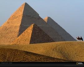 Papel de parede As Três Pirâmides