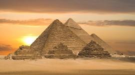 Papel de parede Pirâmides: Cenário Transcedental