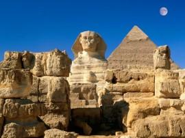 Papel de parede Pirâmides e Esfinge