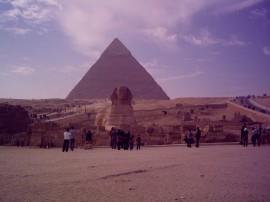 Papel de parede Grande Pirâmide e Esfinge