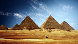 Papel de parede Pirâmides de Quéops, Quéfren e Miquerinos