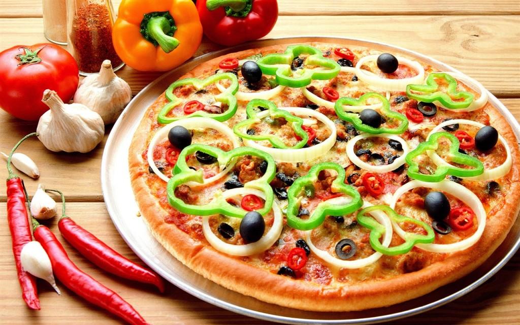 Papel de parede Pizza – Bem Recheada para download gratuito. Use no computador pc, mac, macbook, celular, smartphone, iPhone, onde quiser!