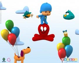 Papel de parede Pocoyo – Balões