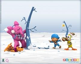Papel de parede Pocoyo – Neve