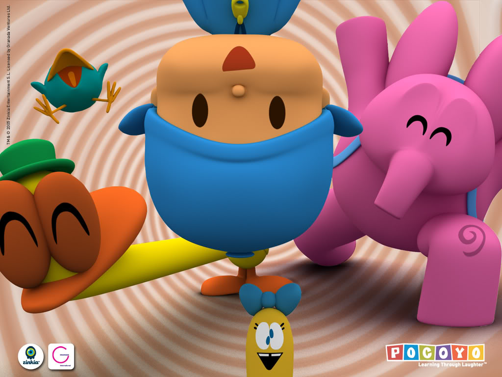 Papel de parede Pocoyo – Amigos para download gratuito. Use no computador pc, mac, macbook, celular, smartphone, iPhone, onde quiser!