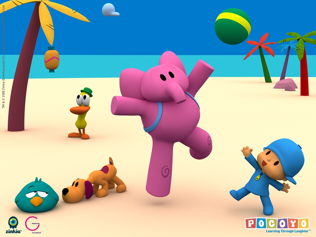 Papel de parede Pocoyo – Praia para download gratuito. Use no computador pc, mac, macbook, celular, smartphone, iPhone, onde quiser!