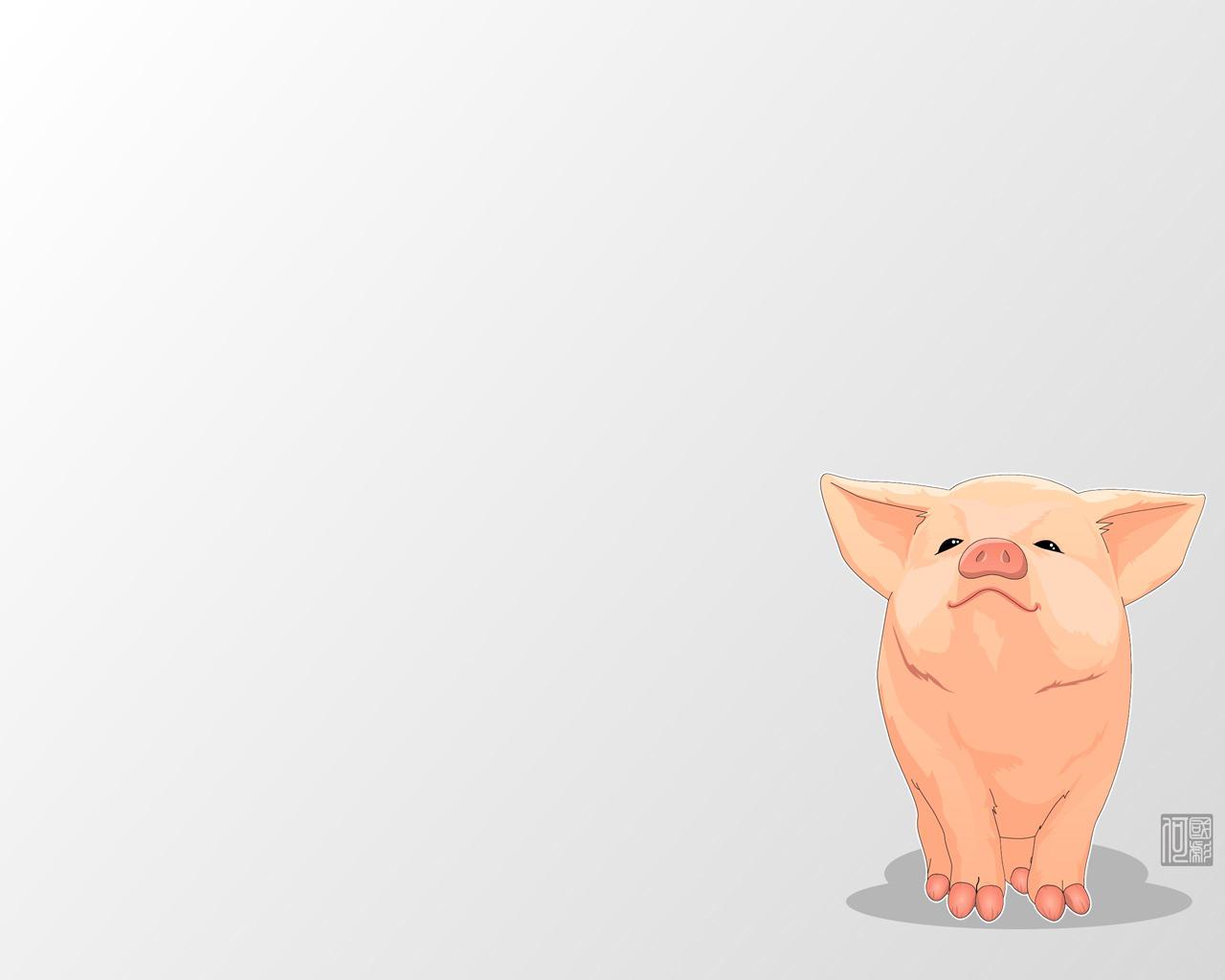 Papel de Parede Desenho de Porco Wallpaper para Download ...