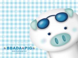 Papel de parede Porco Azul