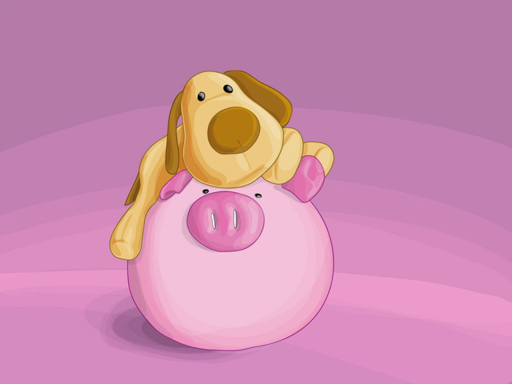Papel de parede Cachorro Amigo do Porco para download gratuito. Use no computador pc, mac, macbook, celular, smartphone, iPhone, onde quiser!