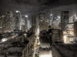 Papel de parede Edifício – Luzes à Noite