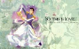 Papel de parede Princesas – Cinderella e seu príncipe