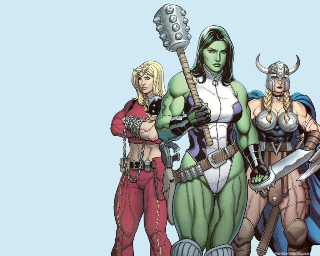 Papel de parede Mulheres Marvel para download gratuito. Use no computador pc, mac, macbook, celular, smartphone, iPhone, onde quiser!