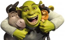 Papel de parede Shrek, Burro e Gato