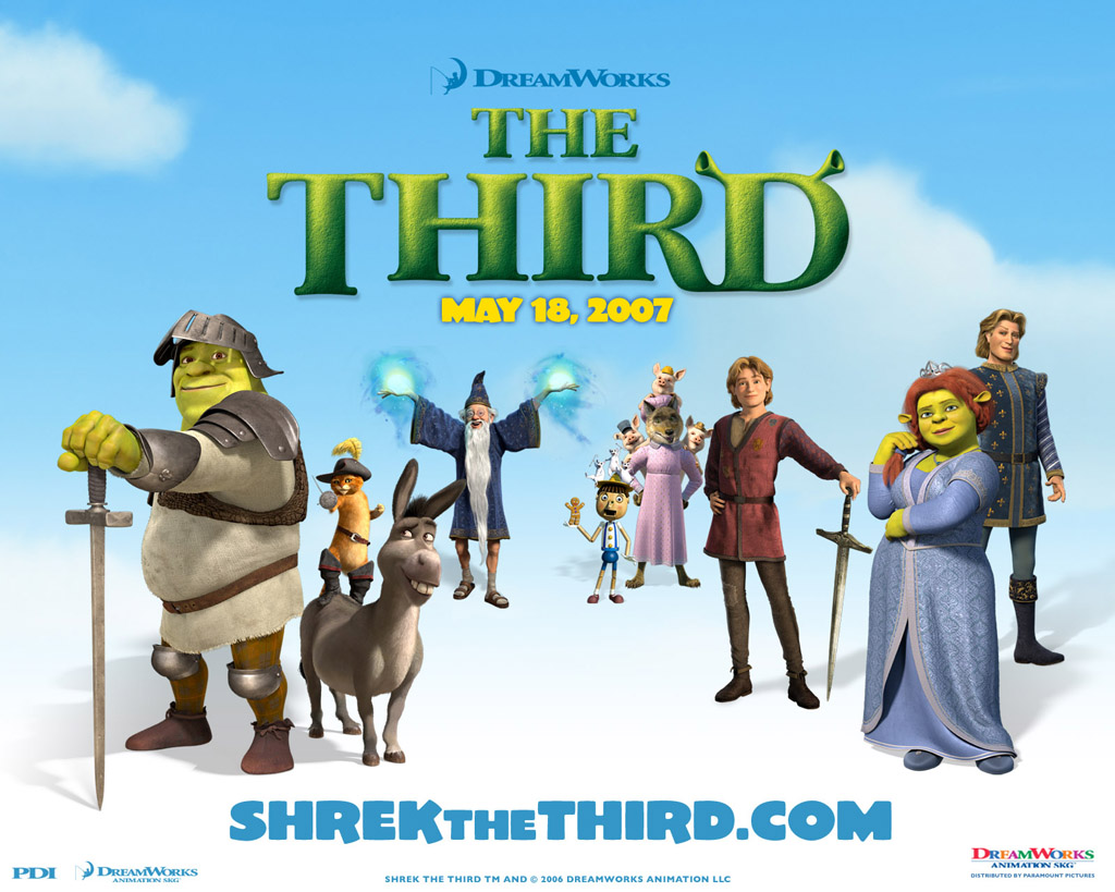 Papel de parede Shrek: The Third-Filme para download gratuito. Use no computador pc, mac, macbook, celular, smartphone, iPhone, onde quiser!