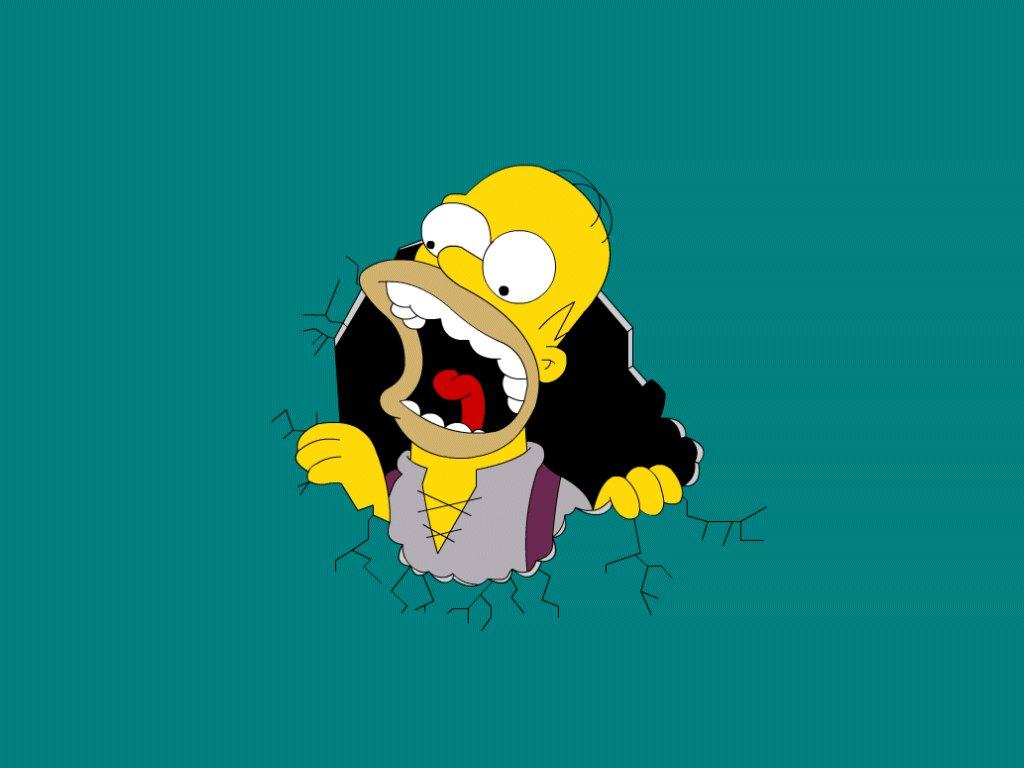 Papel de parede Os Simpsons – Fome para download gratuito. Use no computador pc, mac, macbook, celular, smartphone, iPhone, onde quiser!
