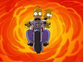 Papel de parede Os Simpsons – Explosão